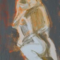 Nr 16 - 13 x 20cm. Acryl on canvas.
