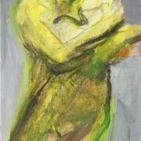 Nr 18 - 13 x 20cm. Acryl on canvas.