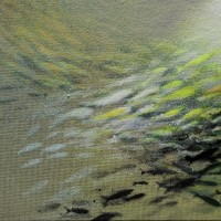 """Fish nr 28"",acrylic on canvas, 24 x 18 cm"