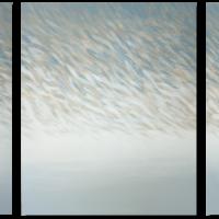 """Fish nr 35"", acrylic on canvas,170 x 65 cm"