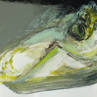 nr 9  29 x 21 cm oil pastel, acrylic on bristol